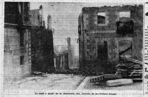The ruins of Gernika. (Le Petit Journal, 30 April 1937.)