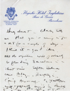 "A letter from Joseph North to his wife. Courtesy of ""Progressions: NYU Libraries Newsletter."""