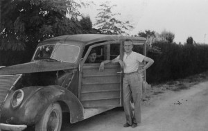 Buckley with his driver in wartime Spain. Photo courtesy of I.B. Tauris.