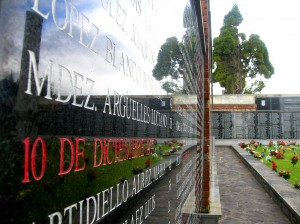 Monument commemorating the victims of Nationalist repression in the mass grave at the San Salvador Cemetery in Oviedo, Spain. Photo Pablo G. Pando. CC BY 2.0.