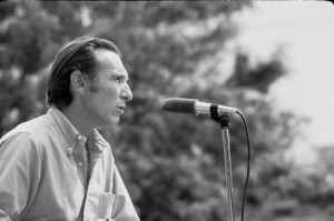 Carlos Blanco Aguinaga at the Thurgood Marshall College opening ceremony on September 26, 1970. Photo courtesy UCSD.