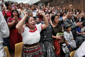 Members of the Maya Ixil community attending the trial. Photo: Daniel Hernández-Salazar / Dictator in the Dock