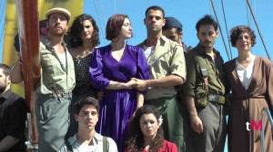 The cast at the musical's presentation in Barcelona, Sept. 2013.