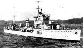 SUNK:HMS Hunter hit a mine laid by Franco's navy.