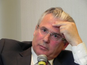 Judge Baltasar Garzón at the 2011 ALBA event in New York. Photo Nancy Tsou.