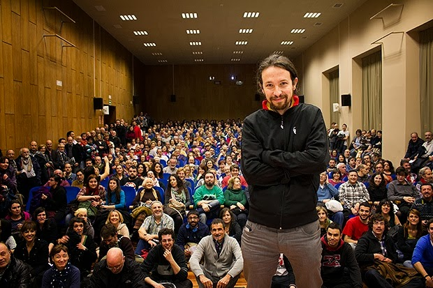 Pablo Iglesias, leader of PODEMOS, photo courtesy of pabloiglesias.org