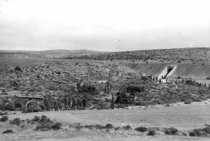 Photo Unit #: A283  American Artillery unit emplacement, Teruel front