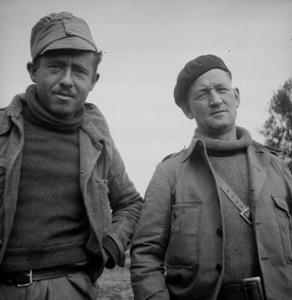Lazar Gordon and John Q. Robinson, Assitant Commissar of the XV BDE, September 1937, The 15th International Brigade Photographic Unit Photograph Collection ; ALBA Photo 11; ALBA Photo number 11-0702.