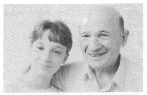 Amber Glassberg, age 12, with her grandfather Sam Gonshak