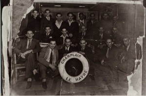 "Figure 4 ""Brigadistas cubanos"" on the S.S. Champlain voyage of January 1937"