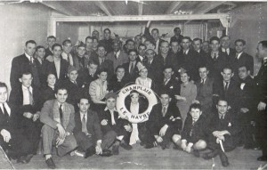 Figure 3 Passengers on the S.S. Champlain voyage of January 1937