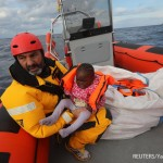 A raft with112 African drifs out of control in Mediterranean Sea some 36 nautical miles off the Libyan coast