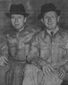 Reuben Barr and Alf Anderson on their return from Spain, Sunday Worker, April 7, 1940.