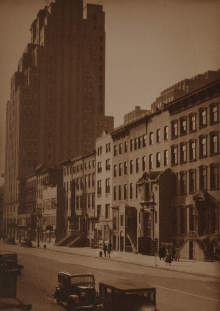 North sidewalk of West 14th Street, between 7th and 8th Avenues, c. 1929. New York Public Library Digital Photos.