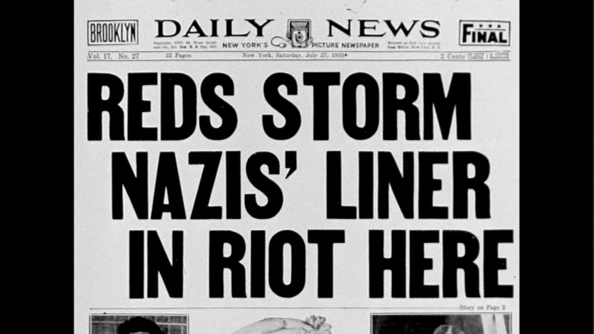 Headlines from The Daily News. Still from The Good Fight.