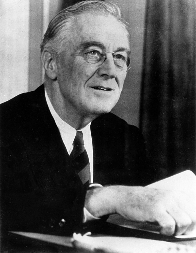 Franklin D. Roosevelt. Photo FDR Library. Public Domain.