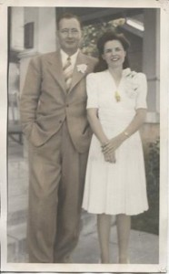 Wedding day photograph, 1942.