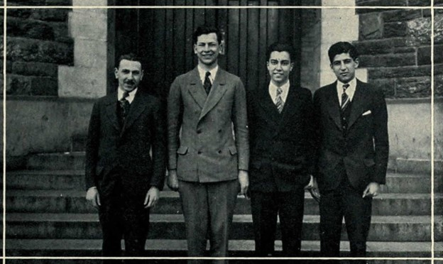 Cosmos Staff, Arthur, second from left, from 1927 Microcosm Yearbook