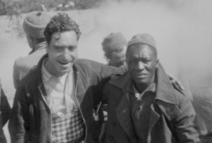 Setty and Mack Coad from Alabama, Darmos, April 1938, Harry Randall: Fifteenth International Brigade Films and Photographs; ALBA PHOTO 011; 11- 034, Tamiment Library/Robert F. Wagner Labor Archives