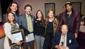 Puffin Foundation: Neal Rosenstein (l) and Gladys and Perry Rosenstein (r)