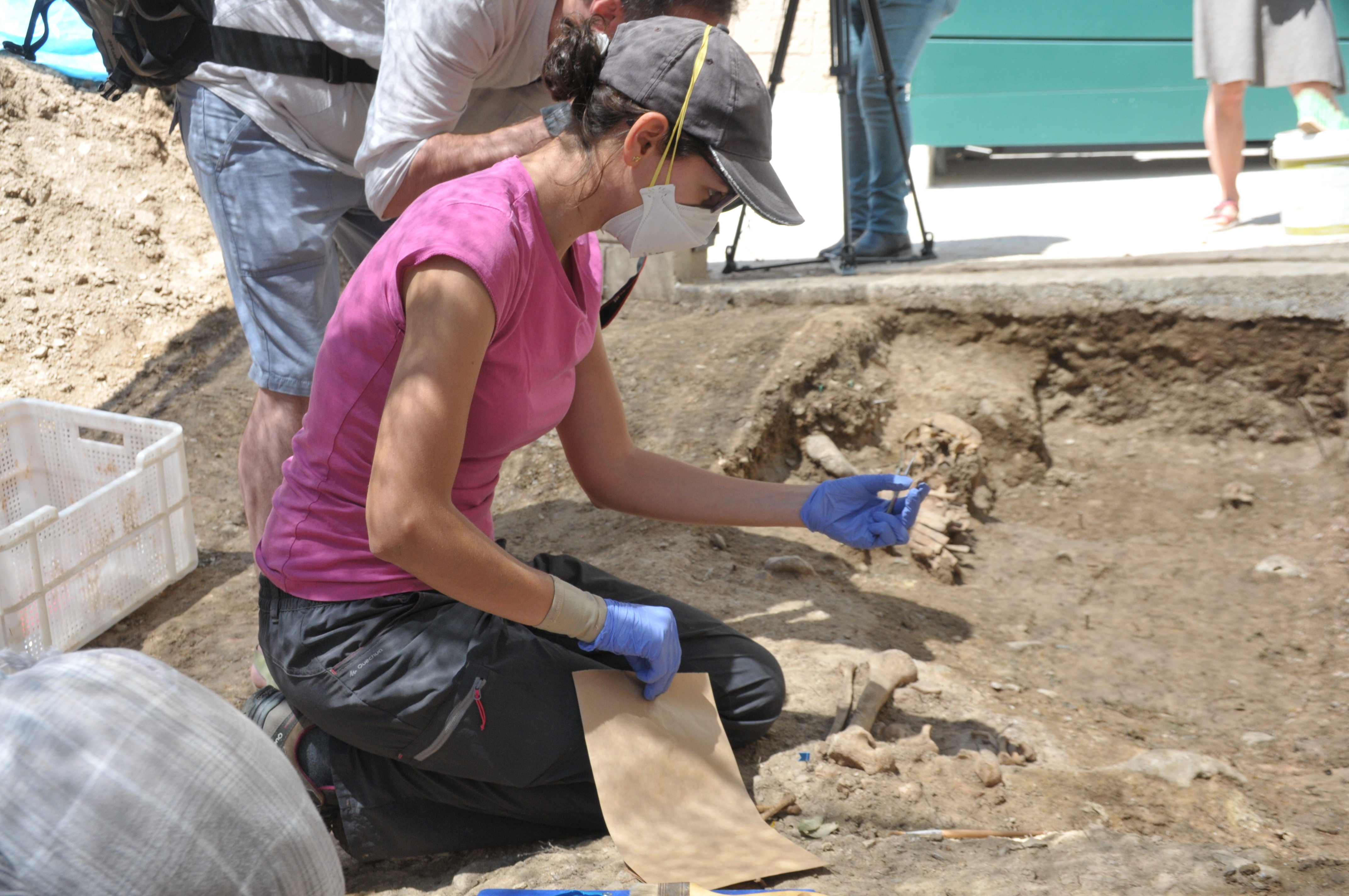 Archaeological work in Caseres, July 2019.
