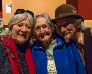 Barbara Dane, Faith Petric and Will Scarlett (Photo Richard Bermack)