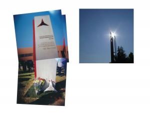 """""""Que el sol siempre brille sobre la memoria de las Brigadas Internacionales y la Segunda República."""" (May the sun always shine on the memory of the International Brigades and the Second Spanish Republic."""" Photo collage by Alan Entin."""