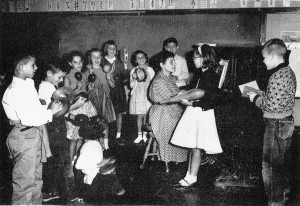 Van der Schelling's wife, Edna Moore, as music teacher.