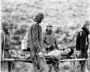 James Neugass accompanying Cuban volunteer Pablo Carbonell, killed in action in the Battle for Teruel, 1937