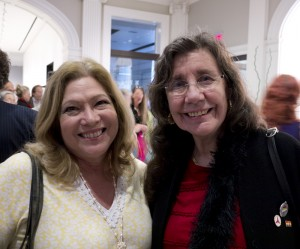 Josie Yurek with ALBA board member Nancy Wallach at ALBA's reunion, May 2012. Photo Richard Bermack.
