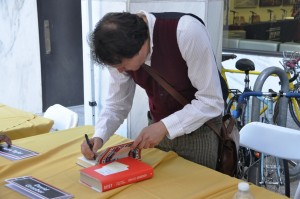 David Graeber autographed his books at the Brooklyn Book Festival (Sept. 22, 2013)