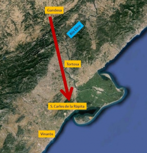 Map of the area that the brigaders walked on their flight.