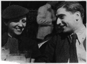 COVER PHOTO: Gerda Taro and Robert Capa in Paris in 1935. Fred Stein's photo of the two young photographers who would soon go to Spain is on the cover of Jane Rogoyska's illustrated biography of Taro.