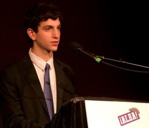 Andrew Plotch of Bergen Academies, winner of the 2012 ALBA/Puffin Student Activist Award. Photo Richard Bermack.
