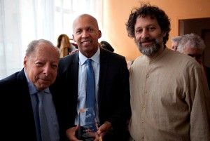 Perry Rosenstein, Bryan Stevenson, and Neal Rosenstein.  Photo Ramón López Seco de Herrera.