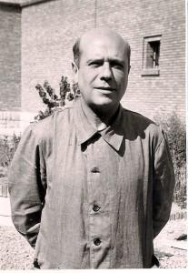 Jesús Monzón in the Teruel prison. Photo courtesy of Elvira Gómez Urrutia.