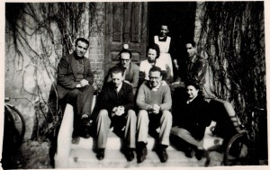 PCE safe house in Toulouse, 1949. Back row: