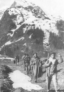 Group of Spanish guerrillas in the Pyrenees.