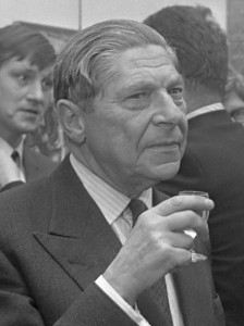 Arthur Koestler in Amsterdam in 1969. Photo Eric Koch, Nationaal Archief, CC BY-SA 3.0.