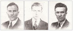 Figure 2. Irish American brothers Charles, Edward and Frank O'Flaherty, from New England Fights for Democracy.