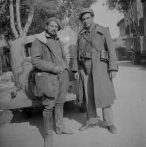 Ivan Rujevcic [alias John Gerlach] (l.) and David Doran . Oct 1937 (Tamiment Library, NYU, 15th IB Photo Collection, Photo # 11-0756)