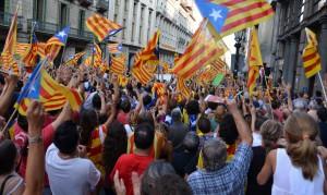 At the 2012 Diada, Via Laietana, Barcelona. Photo Lohen11, CC-BY-3.0