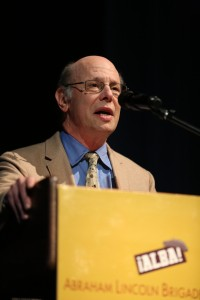 Michael Ratner at ALBA's 2013 event in New York. Photo Nicholas Chan
