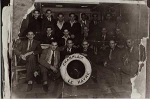 "Figure 4 ""Brigadistas cubanos"" on the S.S. Champlain voyage of January 1937"
