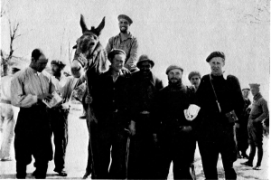 Figure 5 Cuba Hermosa standing to the left of John Tisa (on the donkey's left)