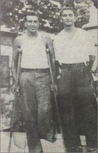 Marc Haldan and Morris Brier, from The Lincoln Brigade a Picture History by William Loren Katz and Marc Crawford
