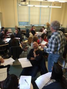 ALBA's Tony Geist with teachers in Seattle