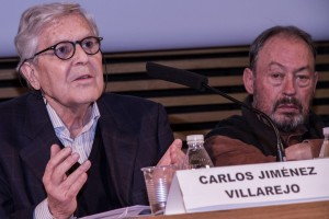 Judge Carlos Jiménez Villarejo speaks in Madrid. Photo Óscar García