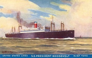 Postcard showing the President Roosevelt