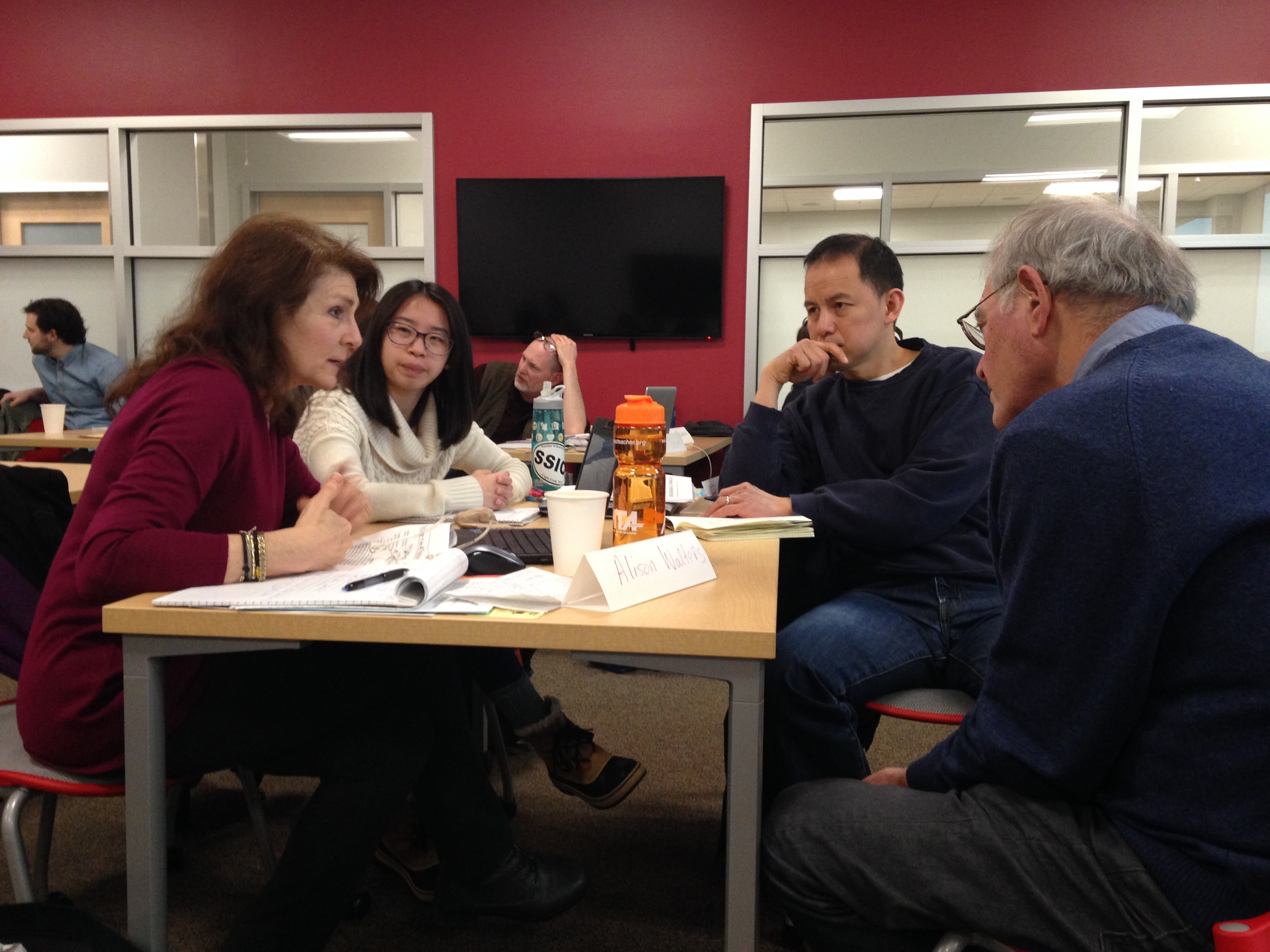 Peter Carroll working with Massachusetts teachers in the Spring of 2017. Photo R. Cairn